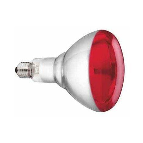lampe infrarouge verre trempe philips 150w - rouge