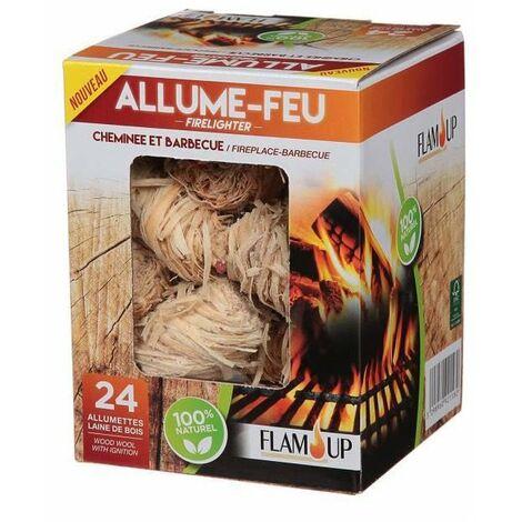 Allume Feu Laine De Bois+Allum X24 - FLAM UP