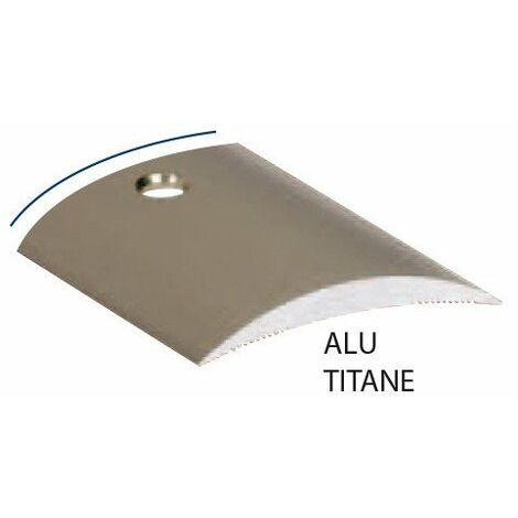 Seuil Alu Titane Perce 30mm 90cm - ROMUS