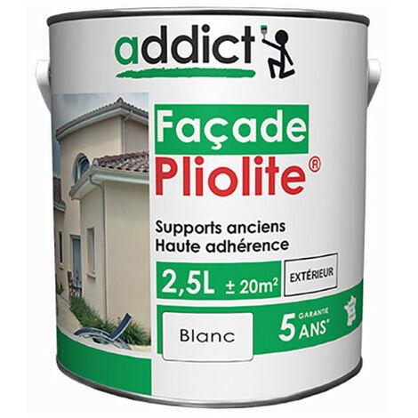 Peinture Facade 100% Pliolite 2.5 litres Blanc - ADDICT