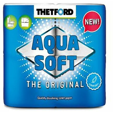 Papier Toilette X4 rouleaux blanc - AQUA SOFT