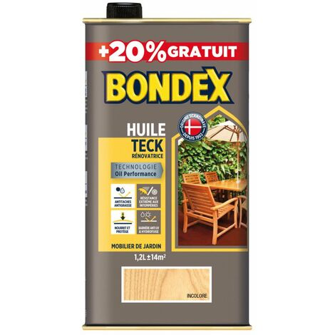 Bondex Huile Teck Naturel 1l+20% - BONDEX