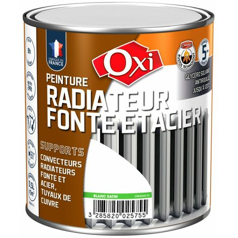Peint Radiateur Fonte Blanc Sat 0l5 - OXI