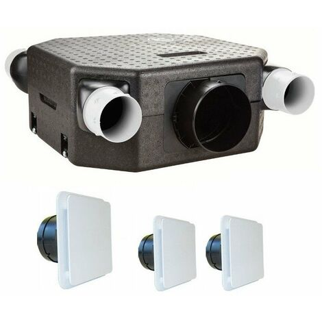 Vmc deco flat dhu k avec sonde hygro - kit avec bouches unelvent 603126