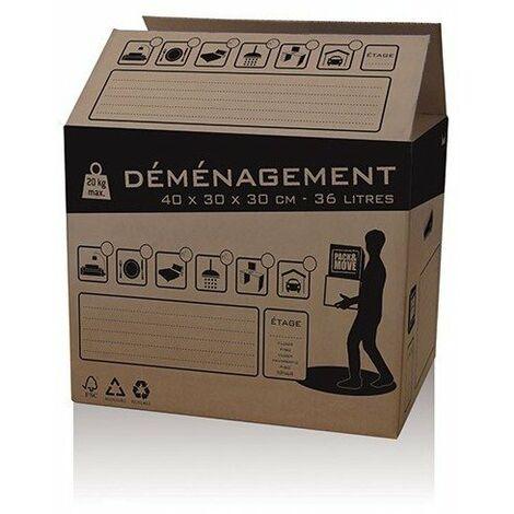 Carton demenagement 36l ref 32580