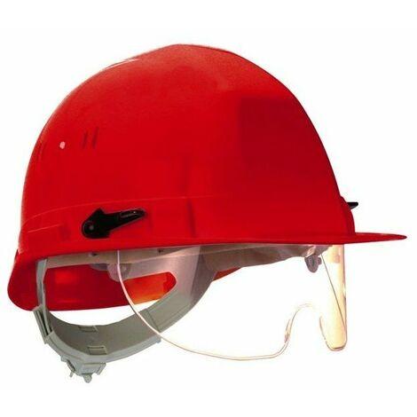 Casque chantier visioceanic en397 vert rb40 lunette incorporee