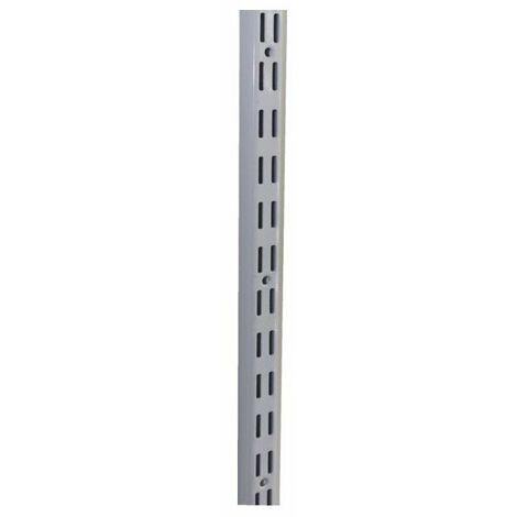 10 Cremaillere double acier laque epoxy blanc 96 cm