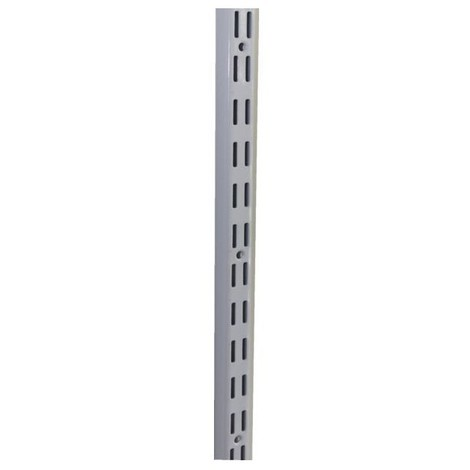 10 cremaillere double acier laque epoxy blanc 144 cm