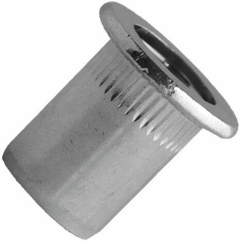 Ecrou a sertir acier tp rainure m6 - sbox de 200