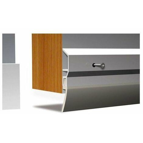 Plinthe bas porte pvc pds l 100cm blanc et vis - 620005