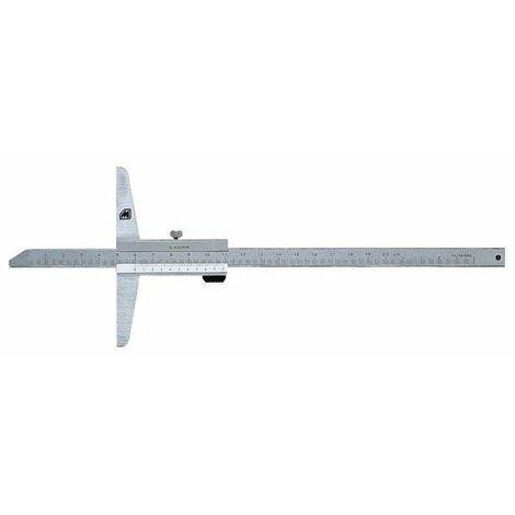 Jauge de profondeur inox trempe 0-200 mm