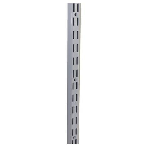 Cremaillere double acier laque blanc - lg 1440 mm