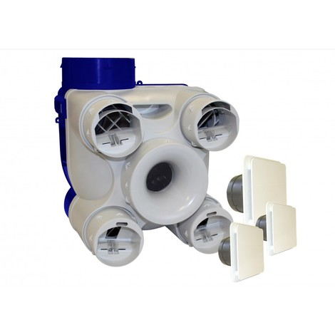 Kit vmc simple flux 3 bouches-auto deco- unelvent