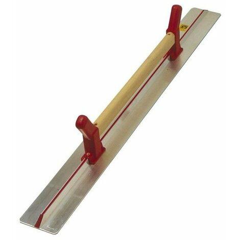 Regle a dresser a poignee 1 cote dente - 1,2 m