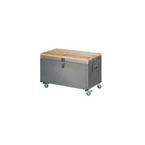 Coffre acier brut vernis 650mm vernis incolore
