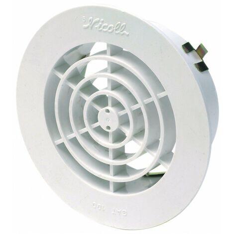 2x Grille d/' aération ventilation plastique cache perforé avec bord à encastrer