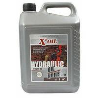 Huile X'OIL Hydraulique HV ISO 46 - HLP46 - ZS46 en bidon de 5 litres pour fendeur de bûche et autre.