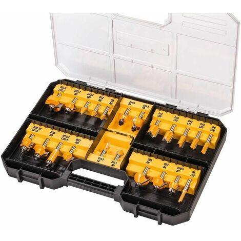 DeWalt DT90017 Juego de fresado de 22 piezas en maletín
