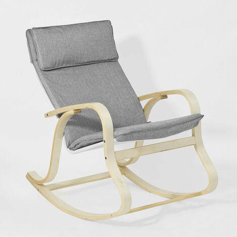 SoBuy® Silla de relax,  mecedora ,  sillón de relax,  FST15-DG,  ES