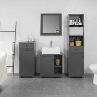SoBuy BZR17-DG Mueble Columna de baño, Armario Alto baño,161 x 40 x 35 cm,ES