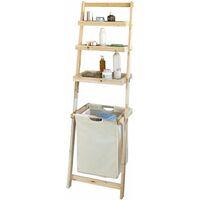 SoBuy® Estantería de baño con cesta y 3 niveles de almacenamiento, FRG160-N, ES