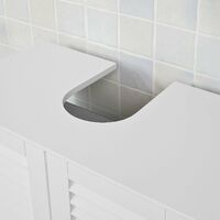 SoBuy®Armario para el debajo del lavado, 2 puertas, blanco, L 60 x P 35 x H 58 cm, FRG237-W
