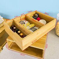 SoBuy® Soporte para Cápsulas de Café de Bambú, Café cajón de almacenamiento, FRG83-N, ES