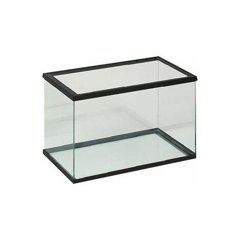 Aquarium en verre 40x20x25cm noir
