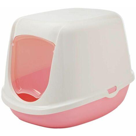 Maison toilette duchesse blanc/rose 44,5x35,5x32cm
