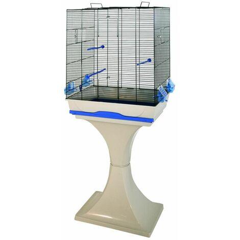 Cage oiseau ambra avec pied gris 57x37x167cm