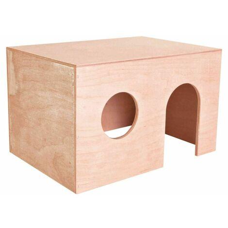 Maison, cochon d'inde, en bois - 27 × 17 × 19 cm