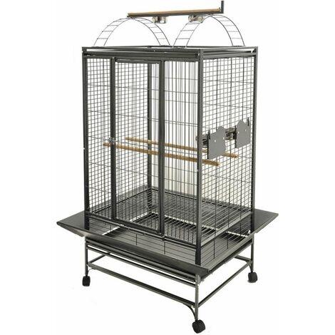 Cage perroquet evita2gris martel.97x82x172cmm 2box