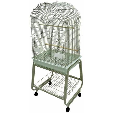 Cage perroquet viona beige 56x43x143cm