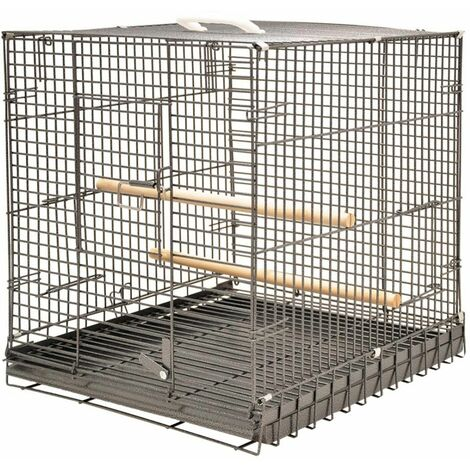 Cage perroquet tiko gris 46 x48 x52cm S