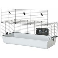 Cage grand rongeur ambiente gris/noir100x50x43cm