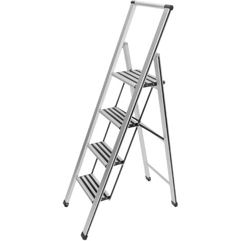 Escalera plegable en diseño de aluminio 4 peldaños WENKO