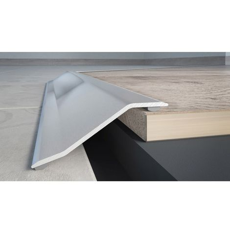 Seuil multi-niveau adhésif inox brillant 0.93 cm - Dinac