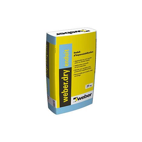 Weberdry enduit gris ciment sac de 25 kg-Weber