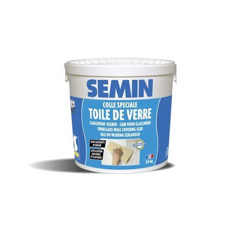 Colle toile de verre pot de 20 kg - Semin