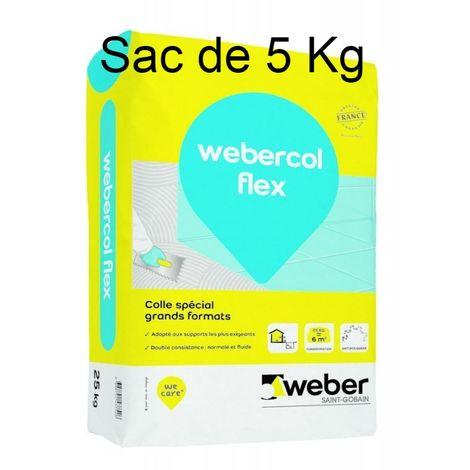 Webercol flex C2 S1 ET/EG Couleur Gris sac de 5 kg -Weber