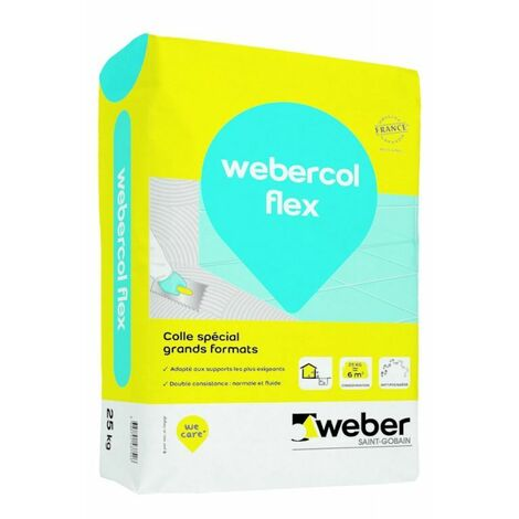 Webercol flex C2 S1 ET/EG Couleur Blanc sac de 25 kg -Weber