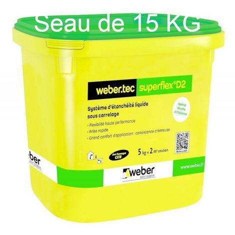 Webertec superflex D2 seau de 15 kg-Weber