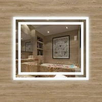 LED Bathroom Mirror with Light Touch Switch Demister Pad Mains Power Mirrors Vertical & Horizontal 600x500mm