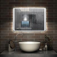 Bathroom Mirror LED Light with Motion Sensor,Demister,Cool White,Hand Wave Control-800x600