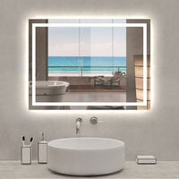 700x500 Illuminated Led Bathroom Mirror with Demister Pad [IP44 Rated] Rectangular Backlit Wall Mounted,Touch Sensor Switch