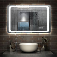 800x600 Illuminated Bathroom Mirrors LED Lights,Fog Free ,Dual Touch Sensor Switch,Wall Hung