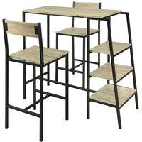 SoBuy Set 5 pezzi Tavolo con 4 sgabelli, Set di mobili da