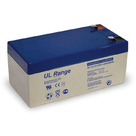 Batterie plomb étanche UL3.4-12 Ultracell 12v 3.4ah
