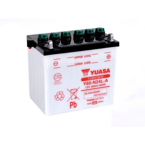 Batterie moto YUASA Y60-N24L-A 12V 29.5AH 241A