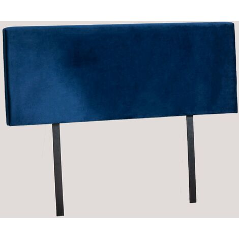 Cabecero para Cama de 135 cm, 150 cm y 180 cm en Terciopelo Tikal SKLUM  fibra  Azul Marino        -  145 cm